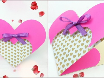 Card love design diy tutorial making easy ideas Greeting Card Valentine's Day Heart Step by Step DIY