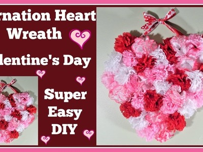 Carnation Heart???? Wreath for ????Valentines Day