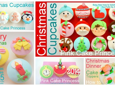Christmas Cupcake & Cake Topper - How to Make a Christmas Baubles Cupcake