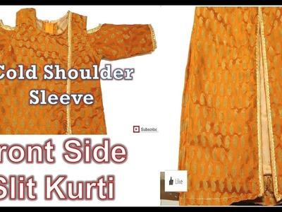 Cold Shoulder Sleeve & Front Side Slit| How To Sewing Tutorial | Diy