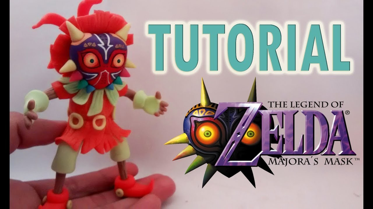 Como hacer a Skull Kid en Porcelana Fría | How to make Skull Kid Majora´s Mask Cold Porcelain