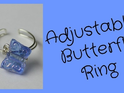 DIY Adjustable Butterfly Bead Ring
