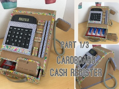 Diy cardboard cash register part 1