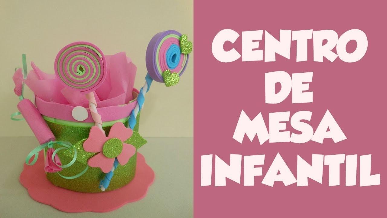 DIY Centro de Mesa Infantil (DIY Children's Table Center)