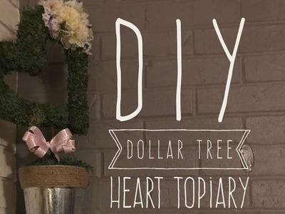 DIY Dollar Tree Heart Topiary