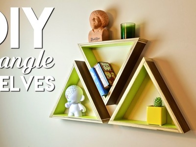 DIY Geometric Triangle Shelves   Simple Woodworking Project