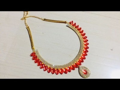 (DIY) HOW To Make Party  Wear NECKLACE.  THE Paper JWELLERY. THE STUNNING HANDMADE'S