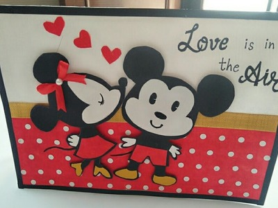 DIY Mickey Mouse Love Card. Valentine day Card. Mickey mouse Valentine day card
