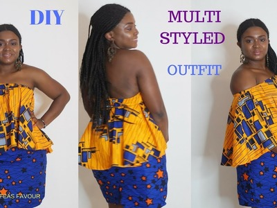 DIY SKIRT WITH ZIPPER. HOW TO MAKE A SKIRT AND TOP- beginner level