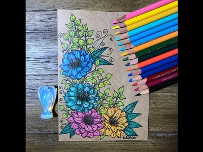 Drawing and coloring on a greeting card  | kcdoodleart