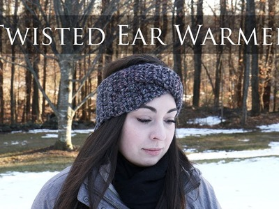 Easy Crochet Twisted Ear Warmer for Beginners || LaughLoveCreate