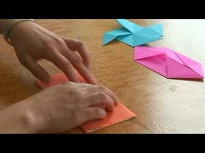 Easy Origami Folding Instructions : Origami Folds: Staring a Pig & Windmill