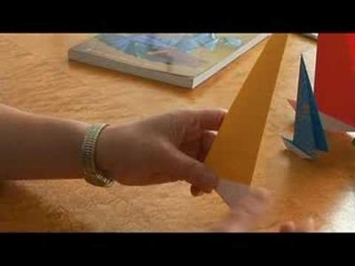 Easy Origami Folding Instructions : Origami Folds: Finishing a Sail Boat