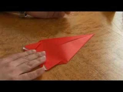 Easy Origami Folding Instructions : Origami Folds: Starting a Dog