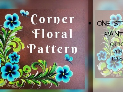 Floral Pattern | Corner Floral Pattern | how to paint | DIY