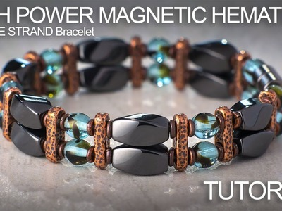 High Power Magnetic Hematite Beaded Double Strand Bracelet Tutorial