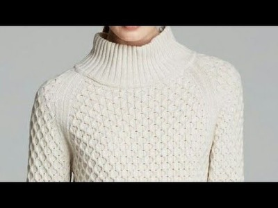 Highneck Sweater in Hindi.Dibbi with Cable Design-Step by Step Tutorial:Design-102