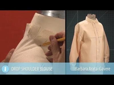 How to Drape a Drop Shoulder Blouse