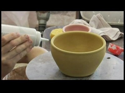 How to Glaze Pottery : Decorating Clay Pottery: Dripping