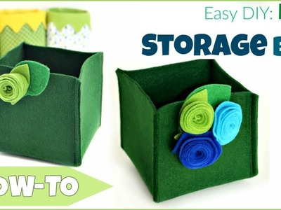 How To Make A Felt Storage Box - Super Easy