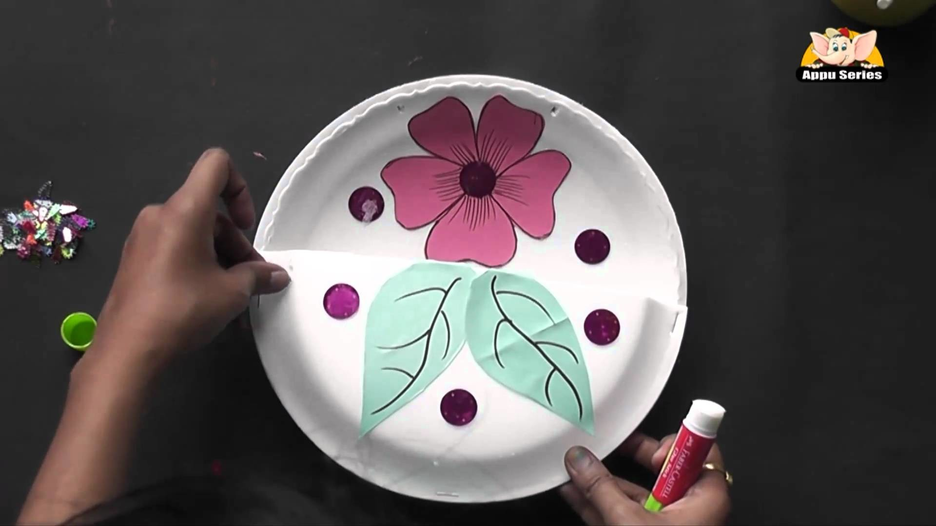 How to make a Flower Basket - Arts & Crafts in Gujarati