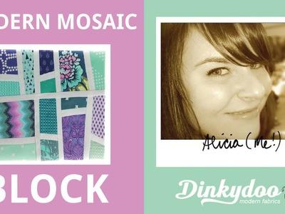 How to Make a Modern Mosaic Block - Modern Quilting Tutorials - Dinkydoodles