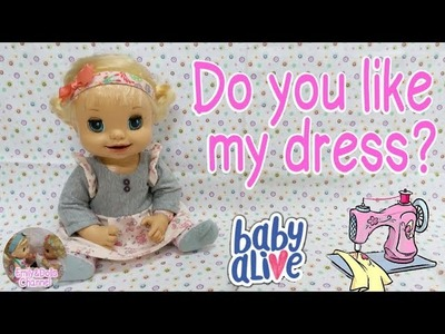 How To Make Baby Alive Doll Dress with free pattern????quick & easy tutorial with BA learns to doll