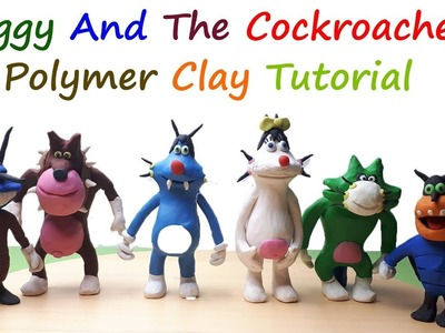 How To Make Oggy And The Cockroaches Characters With Play Doh and Polymer Clay