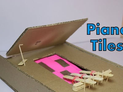 How To Make Piano Tiles From Cardboard-Amazing Cardboard Game