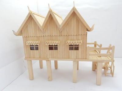 How to Make Popsicle Stick House NEW HD