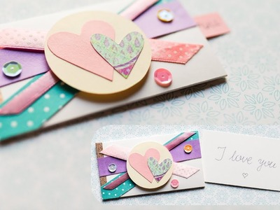 How to make : Surprise Envelope Valentine's Day Card | Kartka na Walentynki - Mishellka #276 DIY