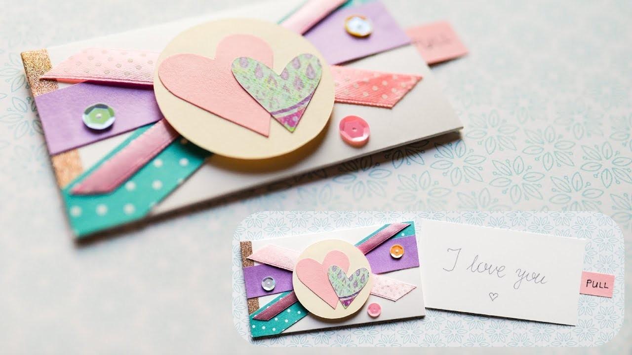 How to make : Surprise Envelope Valentine's Day Card   Kartka na Walentynki - Mishellka #276 DIY
