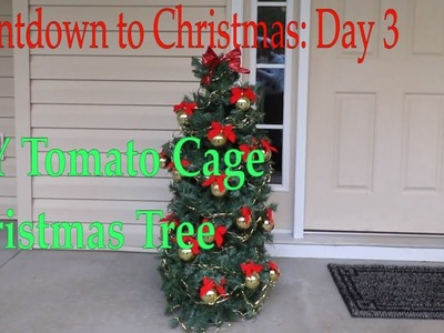 How to Make Tomato Cage Faux Christmas Tree | Countdown Day 3