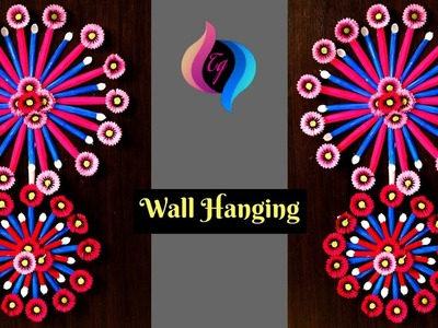 How to make wall hanging with plastic spoon - Plastic spoon craft ideas -Wall hanging making at home