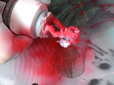 How to paint a miniature with a Airbrush