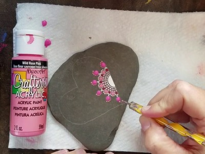 How to Paint Happy Heart Mandalas- part 1