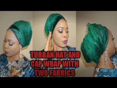 How to sew turban with velevet and net fabric