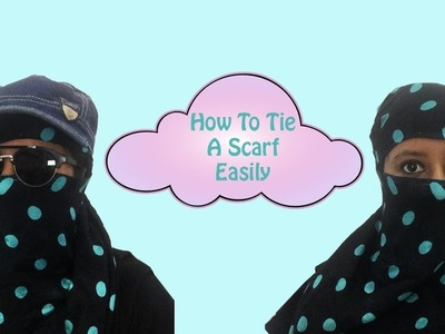How to tie scarf easily while driving in hot sun | Dhruvi Shah