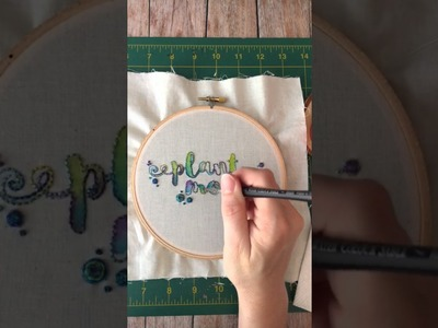 How to Use Watercolors with Embroidery
