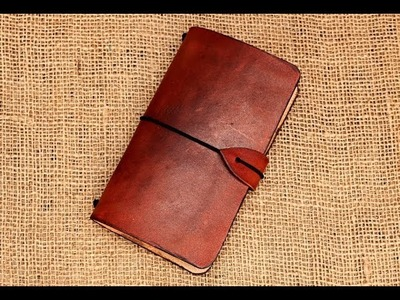 Making a simple moleskine leather cover