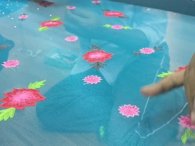 Making of a beautiful floral embroidery saree