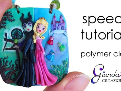 Maleficent & Aurora Speed Tutorial - Sleeping Beauty DIY fimo, polymer clay, pasta polimerica