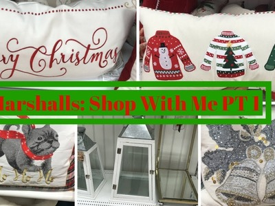 MARSHALLS SHOP WITH ME PART ONE! HOME DECOR & CHRISTMAS DECOR!
