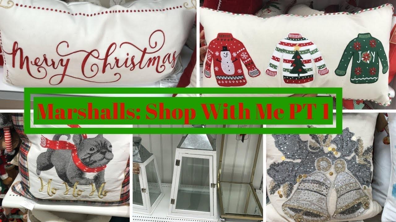 MARSHALLS SHOP WITH ME PART ONE! HOME DECOR & CHRISTMAS DECOR!