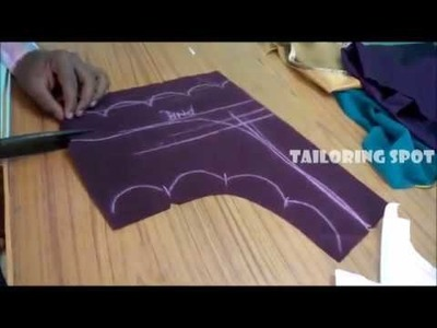 Model blouse cutting and stitching | pattern 2 | tailoring spot