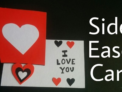 Side Easel Card Tutorial   DIY - Valentine's Day Greeting Card