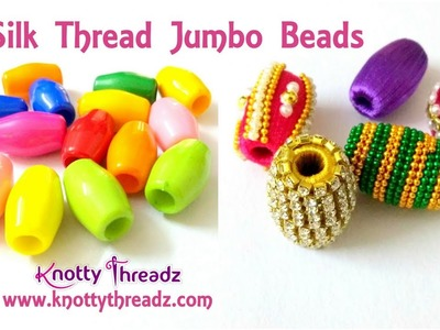 Silk Thread Jumbo Beads Wrapping and Decoration Ideas for Necklace  | www.knottythreadz.com