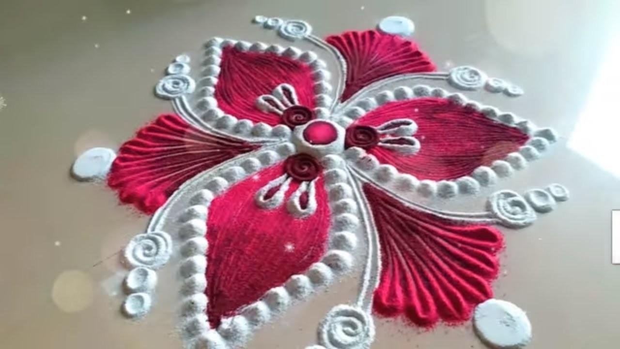 simple rangoli design happy new year