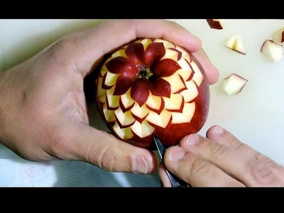 SIMPLE TECHNIQUE OF SCULPING AN APPLE - By J.Pereira Art Carving Fruits and Vegetables