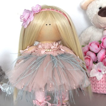 "The doll of the Tilde ""Princess"" is made by hand with love"